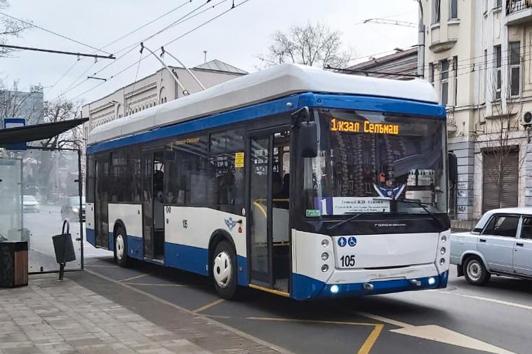 На городских маршрутах в Ростове появились десять новых троллейбусов