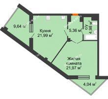 1 комнатная квартира 61,14 м² в ЖК Чернавский, дом 2 этап