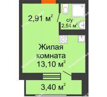 Студия 21,95 м² в ЖК Москва Град, дом 63 - планировка