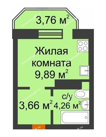 Студия 18,91 м² в ЖК Светлоград, дом Литер 16