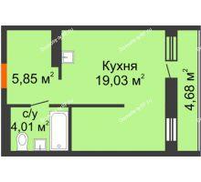 Студия 30,29 м² в ЖК Мозаика Парк, дом ГП-1 - планировка