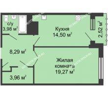 1 комнатная квартира 50,75 м² - ЖК Сергиевская Слобода