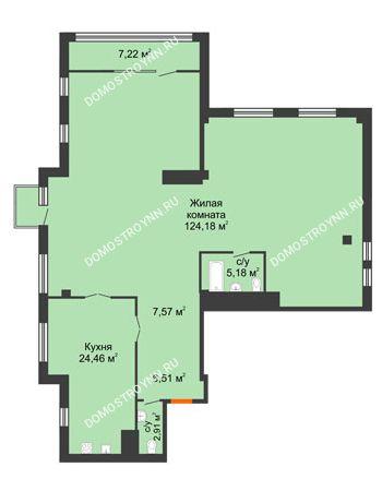 1 комнатная квартира 174,68 м² в ЖК Renaissance (Ренессанс), дом № 1