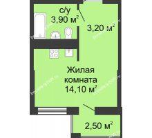 Студия 22,1 м², ЖК Сказка - планировка
