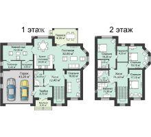 """7 комнатная квартира 313,9 м² в КП Ясная поляна, дом """"Барселона"""" 313,9 м² - планировка"""