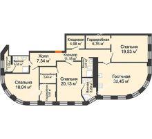 4 комнатная квартира 151,2 м² в ЖК Плотничный, дом № 2 - планировка